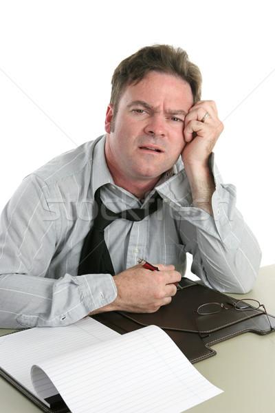 Büro müde schauen Büroangestellte Problem Business Stock foto © lisafx