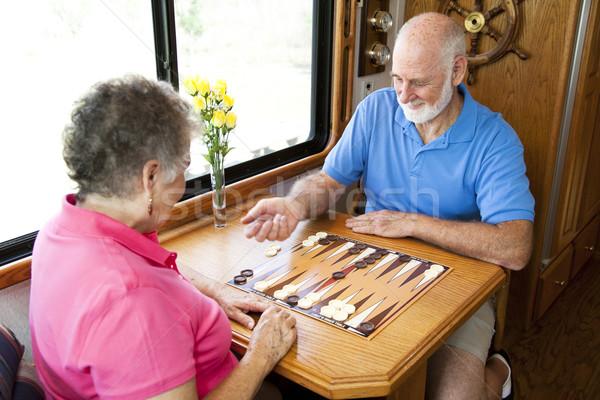 RV Seniors Playing Board Game Stock photo © lisafx
