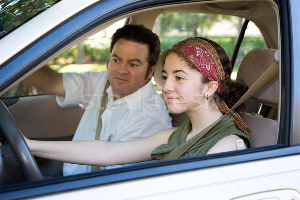 Teen Takes Driving Test Stock photo © lisafx