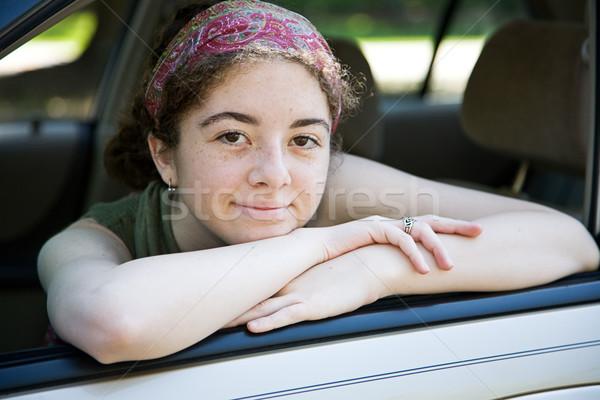 Teen in Car Window Stock photo © lisafx
