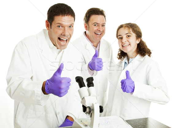 Thumbs Up For Science Stock photo © lisafx