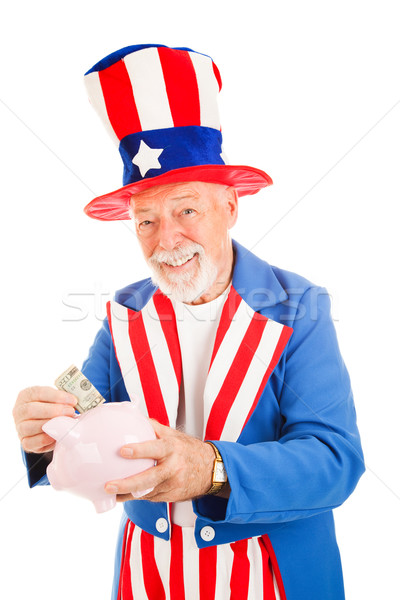 Amca tasarruf plan amerikan ikon Stok fotoğraf © lisafx