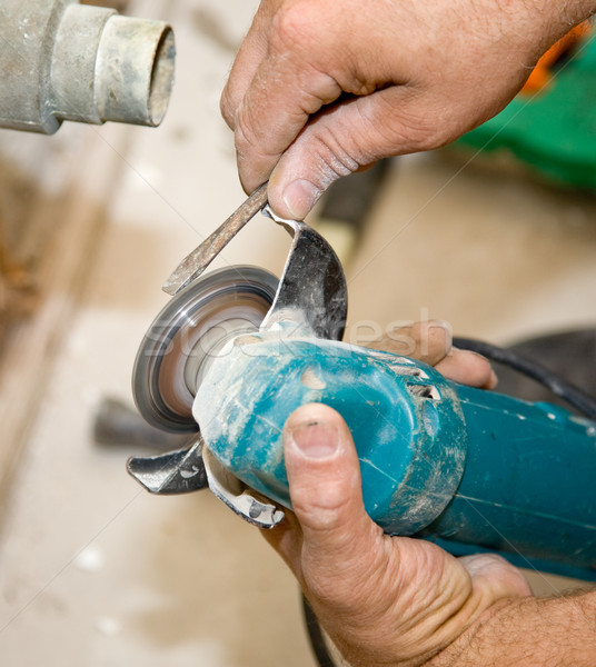 Using Hand Grinder Closeup Stock photo © lisafx