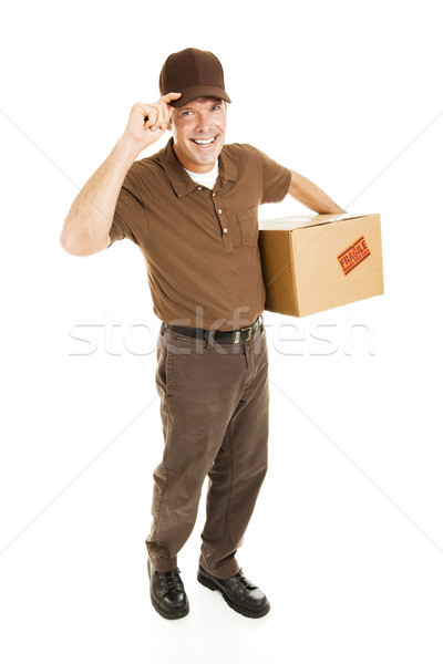 Stock photo: Friendly Delivery - Full Body