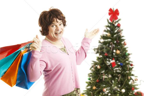 Cross Dresser - Christmas Shopping Spree Stock photo © lisafx