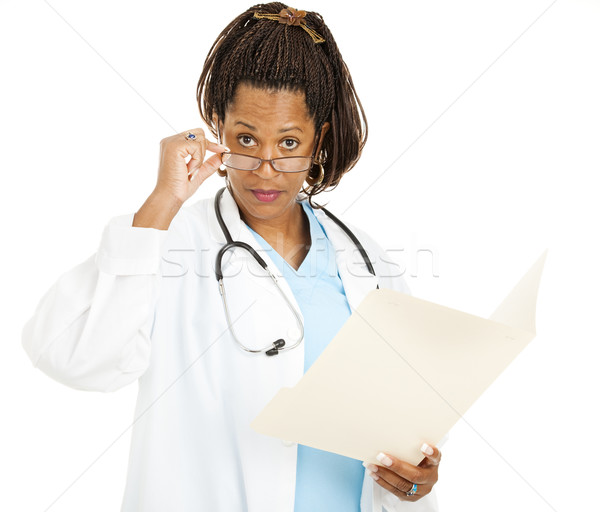 Skeptical Female Doctor Stock photo © lisafx