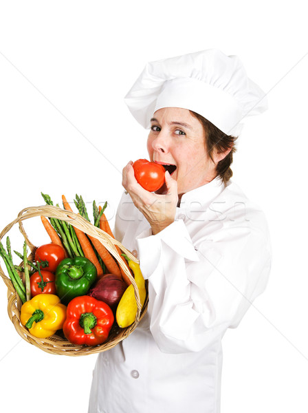 Chef - Plump Ripe Tomato Stock photo © lisafx