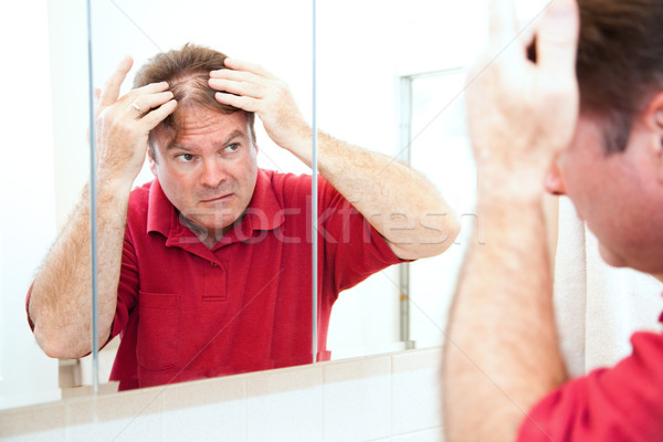 Thinning Hair in Middle Age Stock photo © lisafx