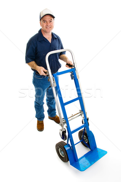 Delivery Man & Dolly - Full Body Stock photo © lisafx