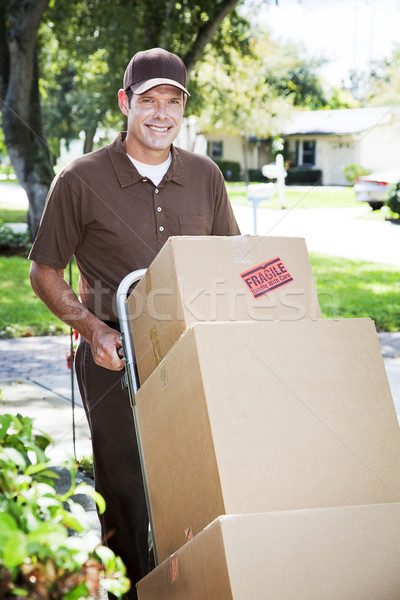 Delivery Man or Mover Outdoors Stock photo © lisafx