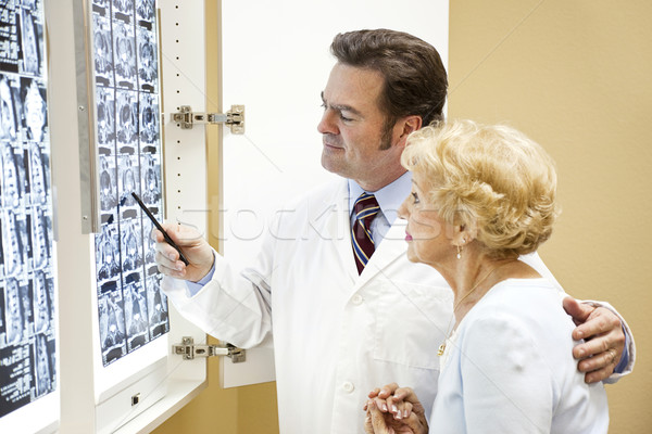 Doctor Patient Test Results Stock photo © lisafx