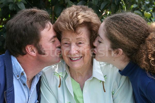 Kiss For Grandma Stock photo © lisafx
