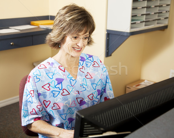 Medical Receptionist Working Stock photo © lisafx