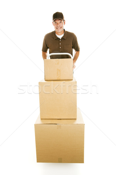 Mover with Boxes Stock photo © lisafx