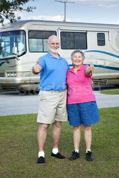 RV Seniors Thumbs Up Stock photo © lisafx