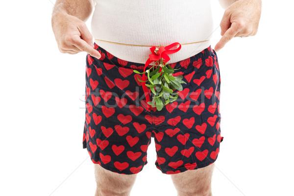 Natal cara visco em torno de Foto stock © lisafx