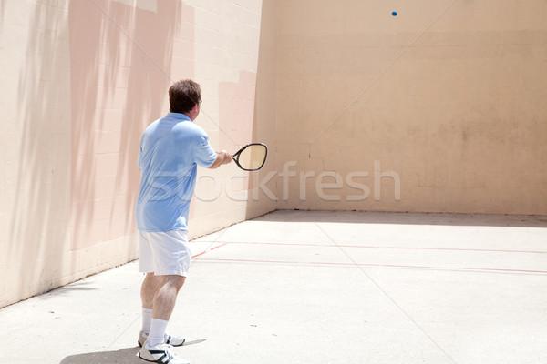 Stock fotó: Játékos · felnőtt · férfi · játszik · forró · nap