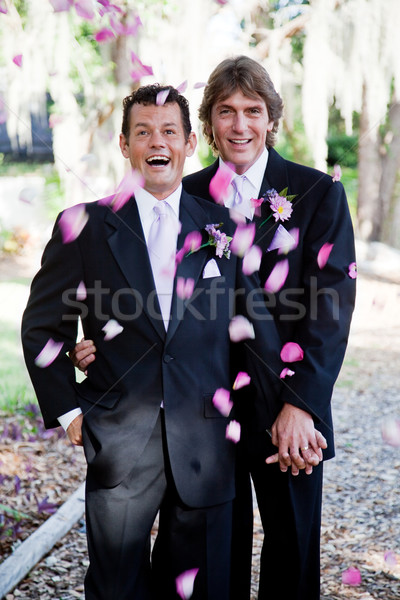 Gay Marriage - Showers of Petals Stock photo © lisafx