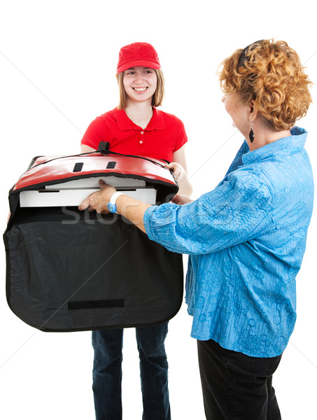 Accepting Pizza Delivery Stock photo © lisafx