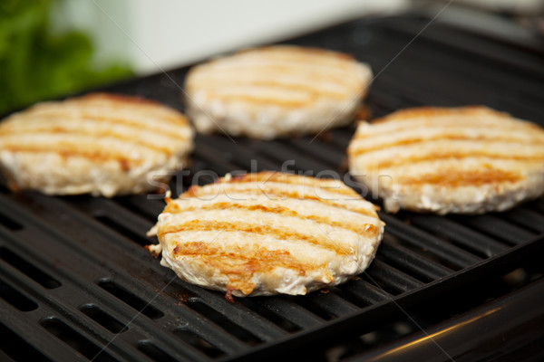 Turkey Burgers on the Grill Stock photo © lisafx