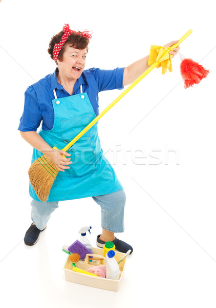 Cleaning Lady Fun Stock photo © lisafx