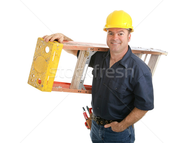 Construction Worker with Ladder Stock photo © lisafx
