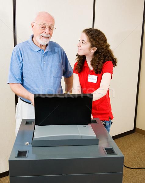 Seçim yeni gönüllü optik taramak Stok fotoğraf © lisafx