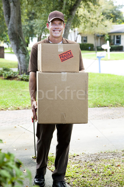 Friendly Home Delivery Stock photo © lisafx