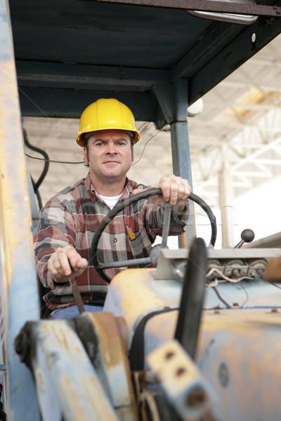 Nehézgépek kezelő vezetés üzlet építkezés munka Stock fotó © lisafx