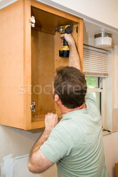 Installing Cabinets Stock photo © lisafx