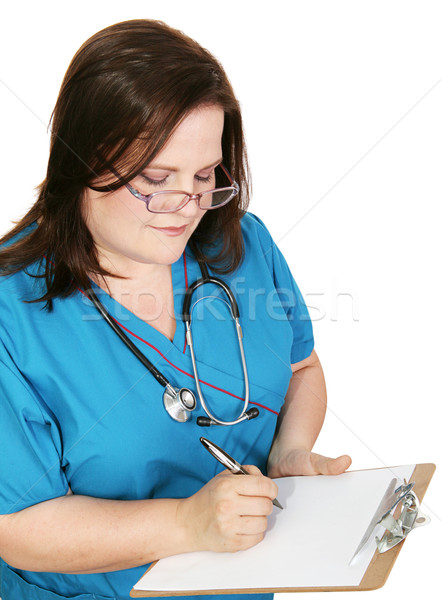 Nurse Takes Notes Stock photo © lisafx