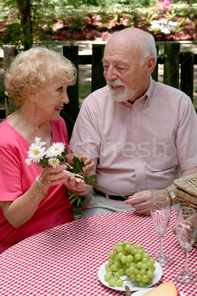 Picnic Seniors - Flowers For Her Stock photo © lisafx