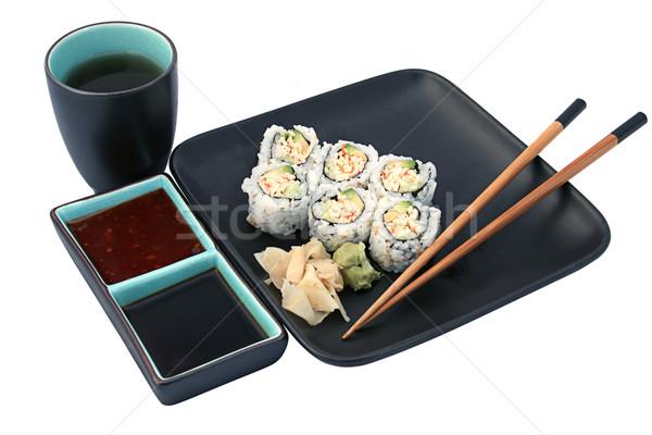 Sushi Dinner Isolated Stock photo © lisafx