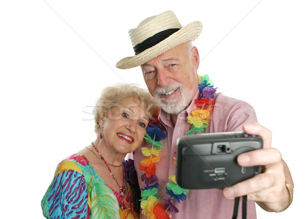 Vacation Couple Self-Portrait Stock photo © lisafx