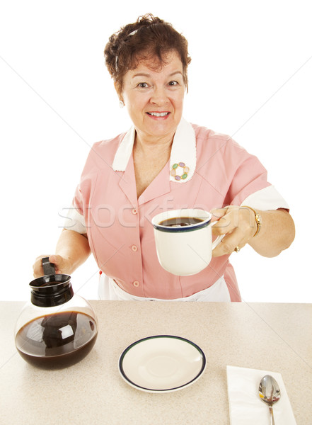 Waitress - Have a Cup of Joe Stock photo © lisafx