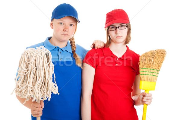 Teen Jobs - Serious Workers Stock photo © lisafx