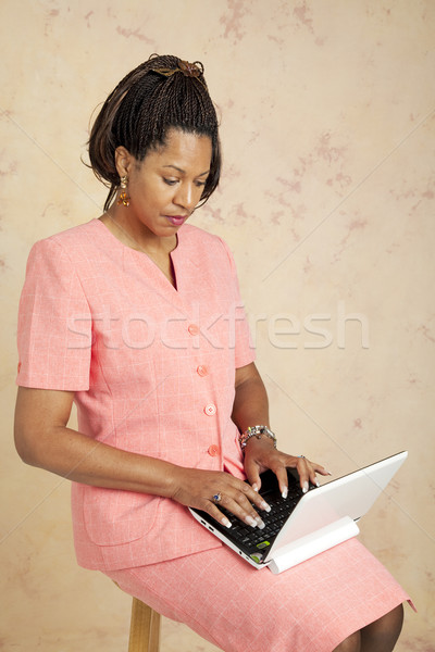 Businesswoman on 3G Network Stock photo © lisafx