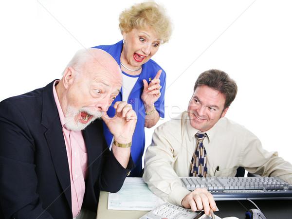 Adó idő nagy viszzafizetés idősek könyvelő Stock fotó © lisafx