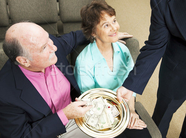 Tithing in Church Stock photo © lisafx