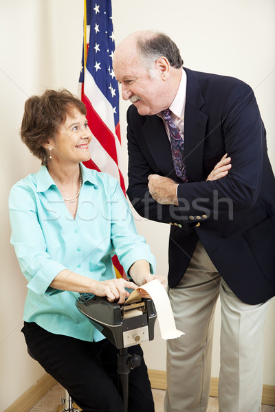 Attorney and Stenographer Stock photo © lisafx