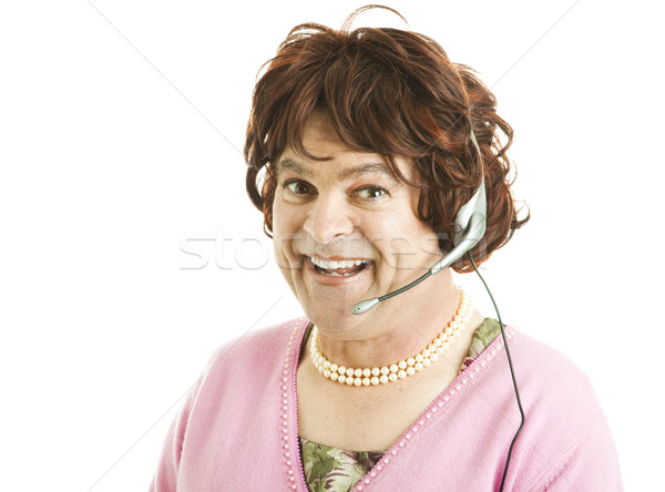 Funny Phone Worker Stock photo © lisafx