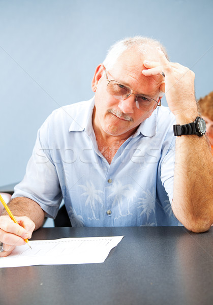 Middle Aged Student - Frustrated Stock photo © lisafx