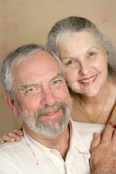Cometido casal alegremente casado mulheres Foto stock © lisafx