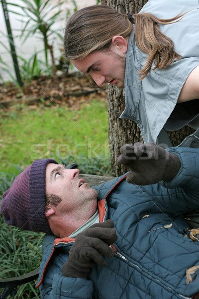 Homeless Man - Confrontation Stock photo © lisafx