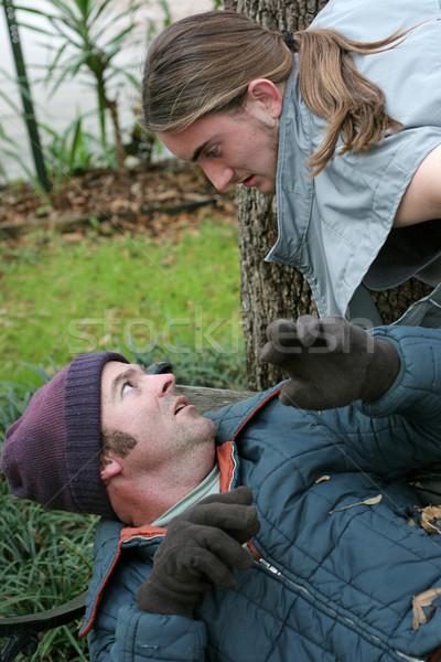 Homeless Man - Confrontation Stock photo © lisafx