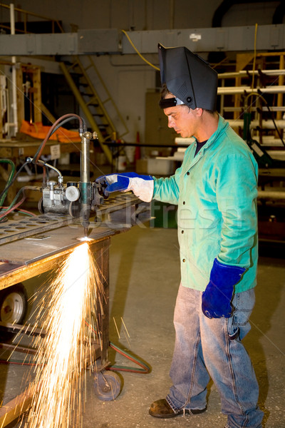 Metal Worker Using Track Burner Stock photo © lisafx