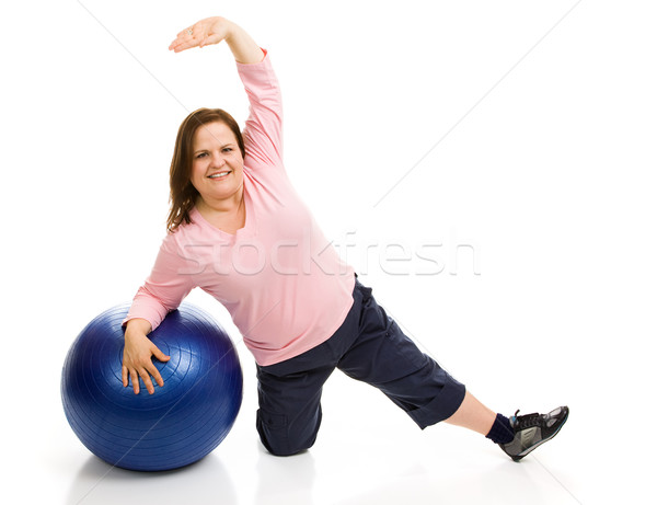 Plus Sized Pilates Stock photo © lisafx