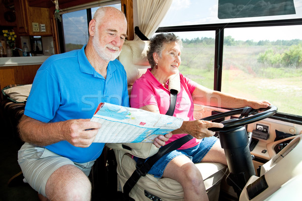 Mąż starszy para drogowego żona jazdy Zdjęcia stock © lisafx
