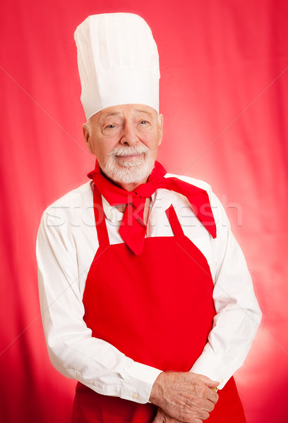 Chef Portrait on Red Stock photo © lisafx
