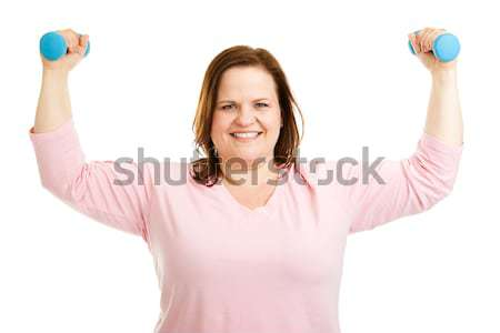 Healthy Plus Size Woman Works Out Stock photo © lisafx